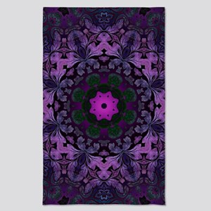 abstract bohemian purple mandala Tea Towel