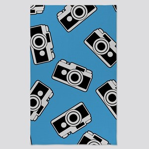 Retro Camera Pattern Tea Towel