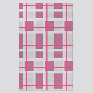 Pink and Gray Plaid Tea Towel