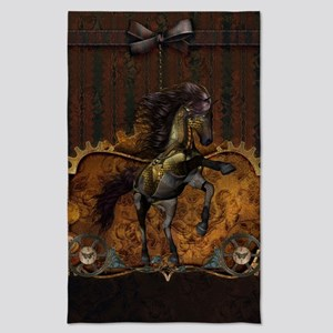 Wild steampunk horse Tea Towel