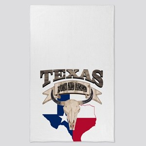 Bull Skull Born Texas Tea Towel