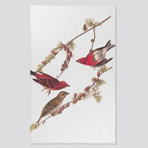 Audubon Purple Finch Tea Towel