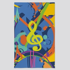 Bright Abstract music design Tea Towel