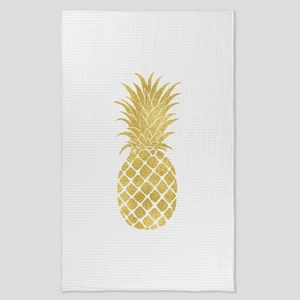Gold Glitzy Pineapple Tea Towel