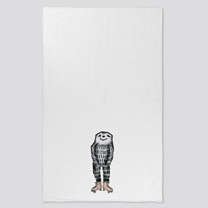 Sloth on Roller Skates Tea Towel