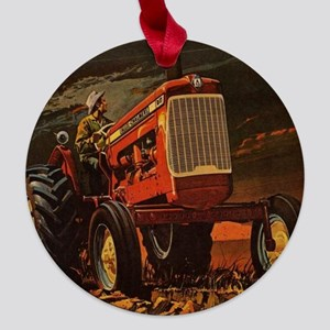 Allis Chalmers D17  Maple Round Ornament