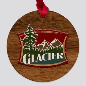 Glacier Wood Tile Maple Round Ornament