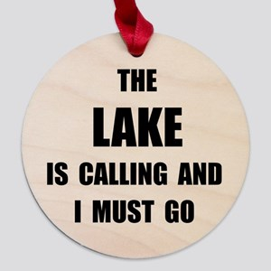 Lake Calling Maple Round Ornament
