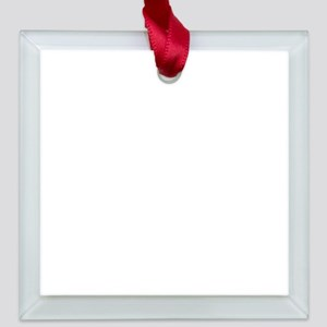 Friends TV Quotes Square Glass Ornament