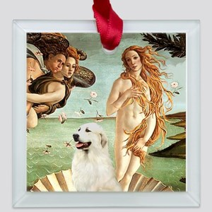TILE-Great Pyrnees 1 - Birth of Venus Square Glass