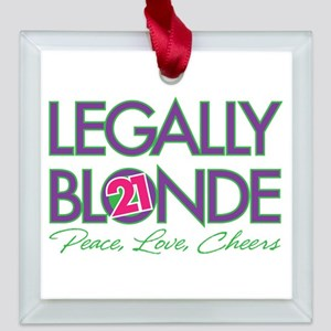 Legally Blonde 21 Square Glass Ornament