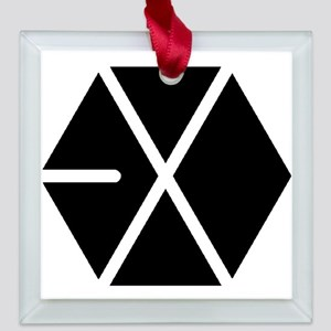 EXO Square Glass Ornament