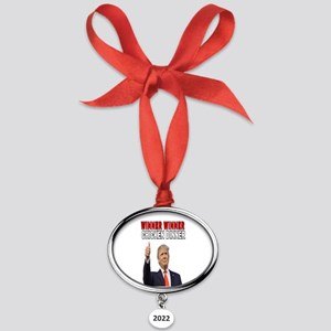 WINNER WINNER CHICKEN DINNER  Oval Year Ornament