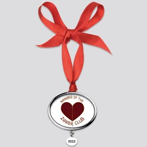 3-GEzipperclubmed2 Oval Year Ornament