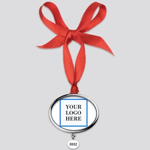 Your Logo Here Oval Year Ornament