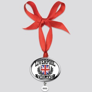 liverpoolengland Oval Year Ornament