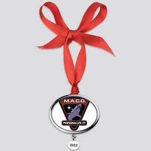 PERSONALIZED Star Trek MACO Oval Year Ornament