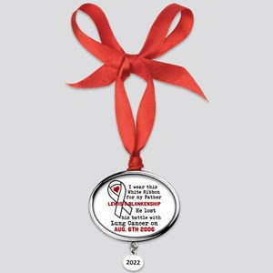 Personalize Name and date Oval Year Ornament