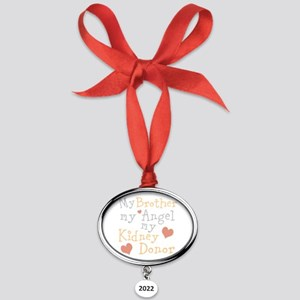 Personalize Kidney Donor Oval Year Ornament