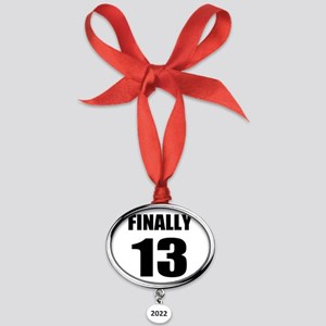 13th Birthday Humor Oval Year Ornament