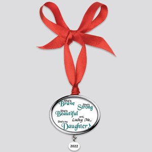 12x10 Oval Year Ornament