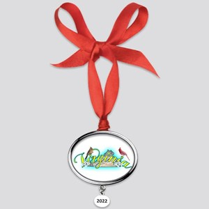 Virginia Oval Year Ornament