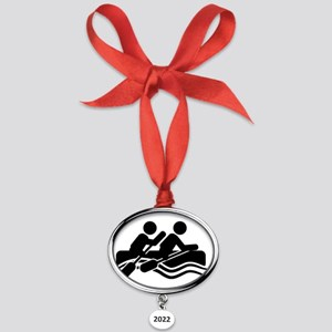 Rafting-A Oval Year Ornament