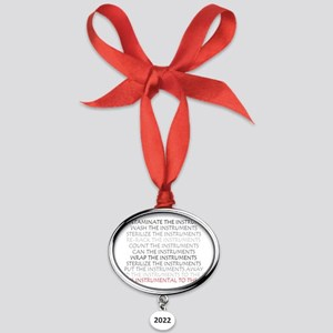 SPD INSTUMENTAL Oval Year Ornament