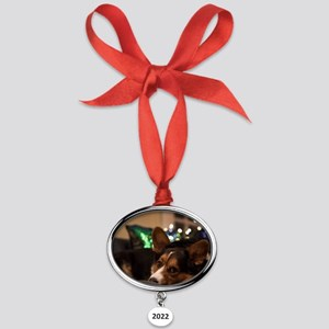 Missing you Oval Year Ornament