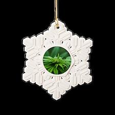 Marijuana Snowflake Ornament
