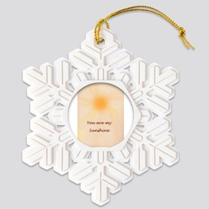 Inspiration on canvas Snowflake Ornament