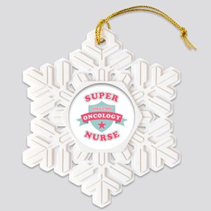 Super Oncology Nurse Snowflake Ornament
