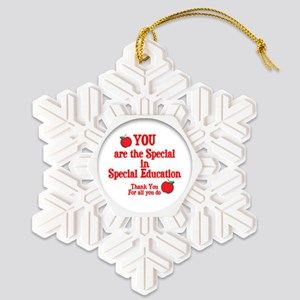 special special ed Snowflake Ornament