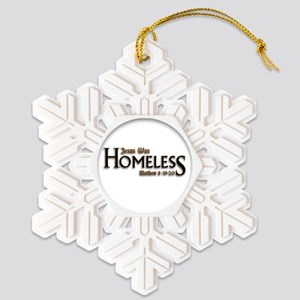 Homeless Snowflake Ornament