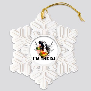 Im The DJ Rockin The Turntables Snowflake Ornament