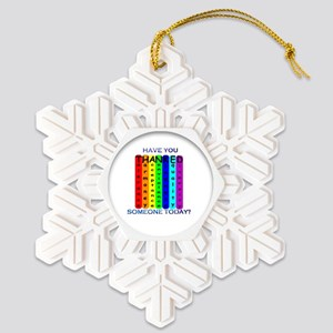 THANKED Snowflake Ornament