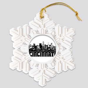 Cincinnati Skyline Snowflake Ornament