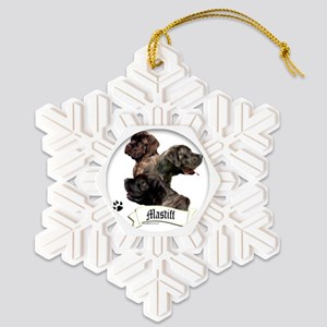 Mastiff 97 Snowflake Ornament