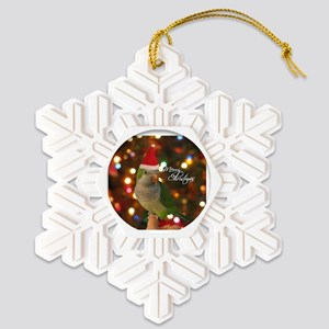 quaker_santa_ornament Snowflake Ornament