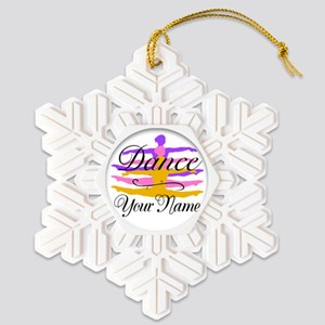 Dance Customizeable Snowflake Ornament