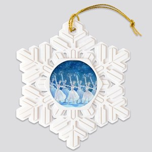 Dance of the Snowflakes-sq Snowflake Ornament