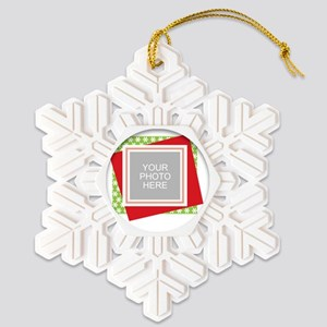 Personalized Christmas Snowman Snowflake Ornament
