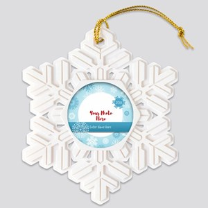 Add Your Photo Snowflake Ornament