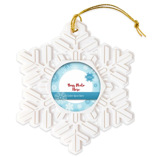 Snowflake Personalized Snowflake Ornament