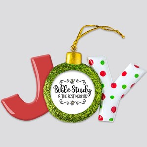 Bible Study Best Medicine Joy Ornament