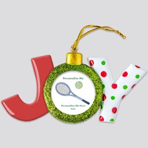 Personalized Tennis Joy Ornament