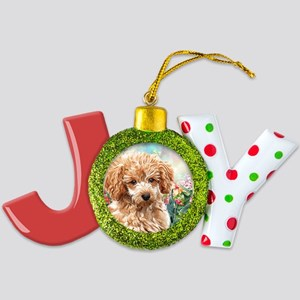 Poodle Painting Joy Ornament