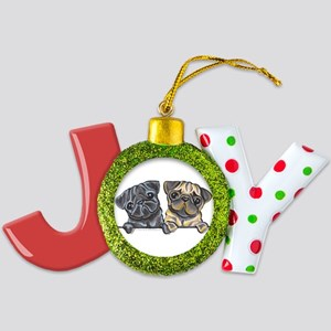 Pug Pals Joy Ornament