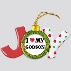I Love My Godson Joy Ornament