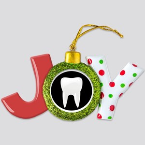 large 2 tooth Joy Ornament
